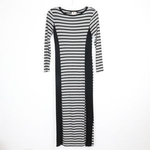one clothing Dresses - One Clothing Striped Long Sleeved Maxi Dress